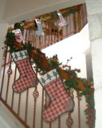 The Stockings Were Hung In The Stairway With Care